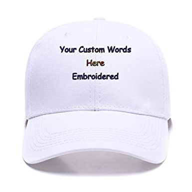 7e7c7b248 Personalized Hats,Embroidered Baseball Caps Custom Curved Bill ...