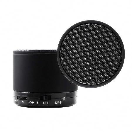 Amazon.com: Soundworx Mini Bocina Portable NEGRA con Bluetooth, Reproductor de Audio Inalambrico con Microfono, Radio FM y Entrada de Tarjeta TF para iPhone ...