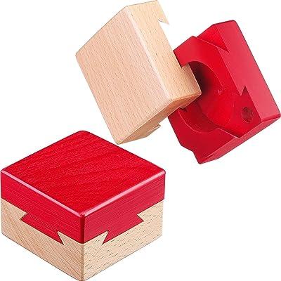 Blulu Mini Puzzle 3D de Madera Caja de Joyería Regalo Caja de Dovetail Imposible Juguete de Rompecabezas: Juguetes y juegos