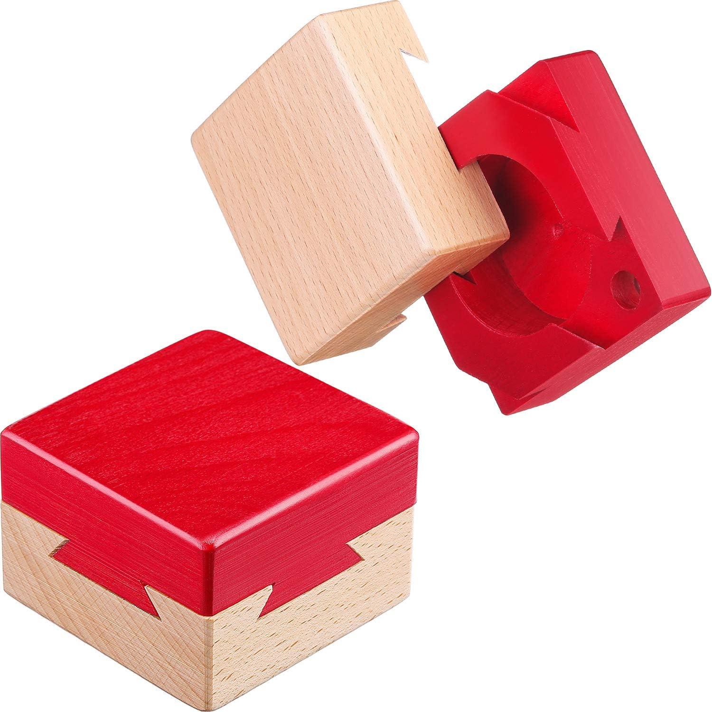 Blulu Mini Puzzle 3D de Madera Caja de Joyería Regalo Caja de Dovetail Imposible Juguete de Rompecabezas: Amazon.es: Juguetes y juegos