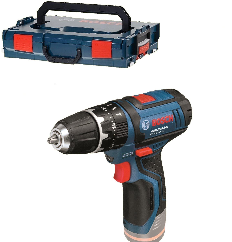 Bosch Professional - Taladro percutor a baterí a GSB 12V-15 (2 baterí as x 2.0 Ah, 12 V, en maletí n L-BOXX) en maletín L-BOXX) 06019B6906 Atornilladores taladradores de percusión a batería Bosch Profesional taladro Bosch