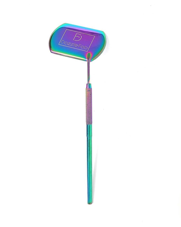 DazzleFab Detachable Extra Large Lash Mirror, Made of Stainless Steel, Eyelash Mirror Premium Quality Lash Tool, Beautiful Mirror (Rainbow Color)