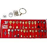 Fairy Tail Key 29 Golden Zodiac Keys Necklace Set Prop Accessories 01