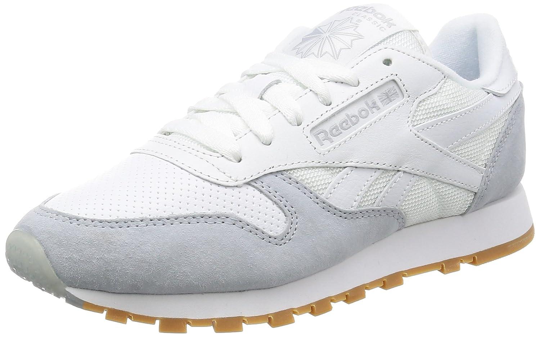 Reebok Unisex-Erwachsene Classic Leather Sneakers  35 EU|wei?/grau