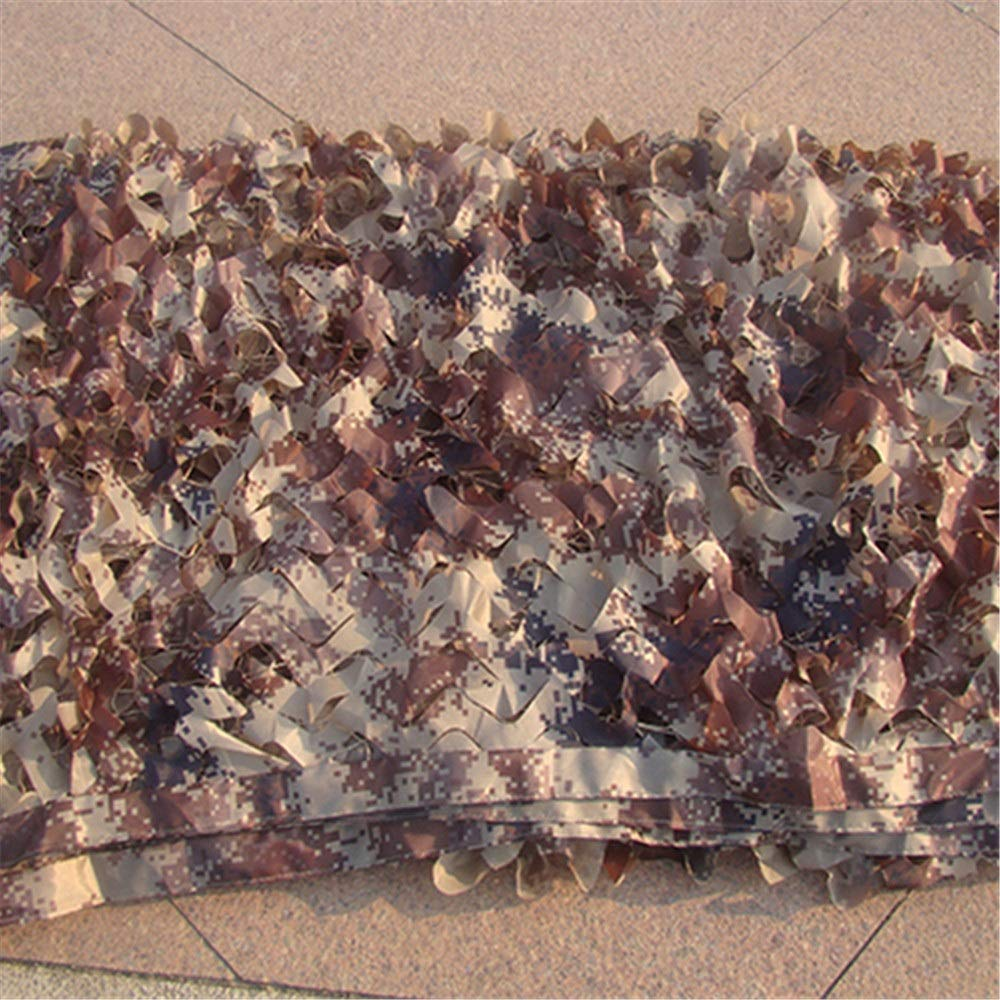 Brown 12m Camouflage Netting Network Jungle Sunshade Outdoor Sunscreen AntiAircraft Camouflage Net Cover Sunscreen Net Camouflage Camping Supplies