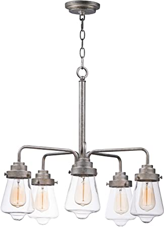 Amazon.com: Maxim Lighting 11335CLWZ Cape Cod 5 - Lámpara de ...