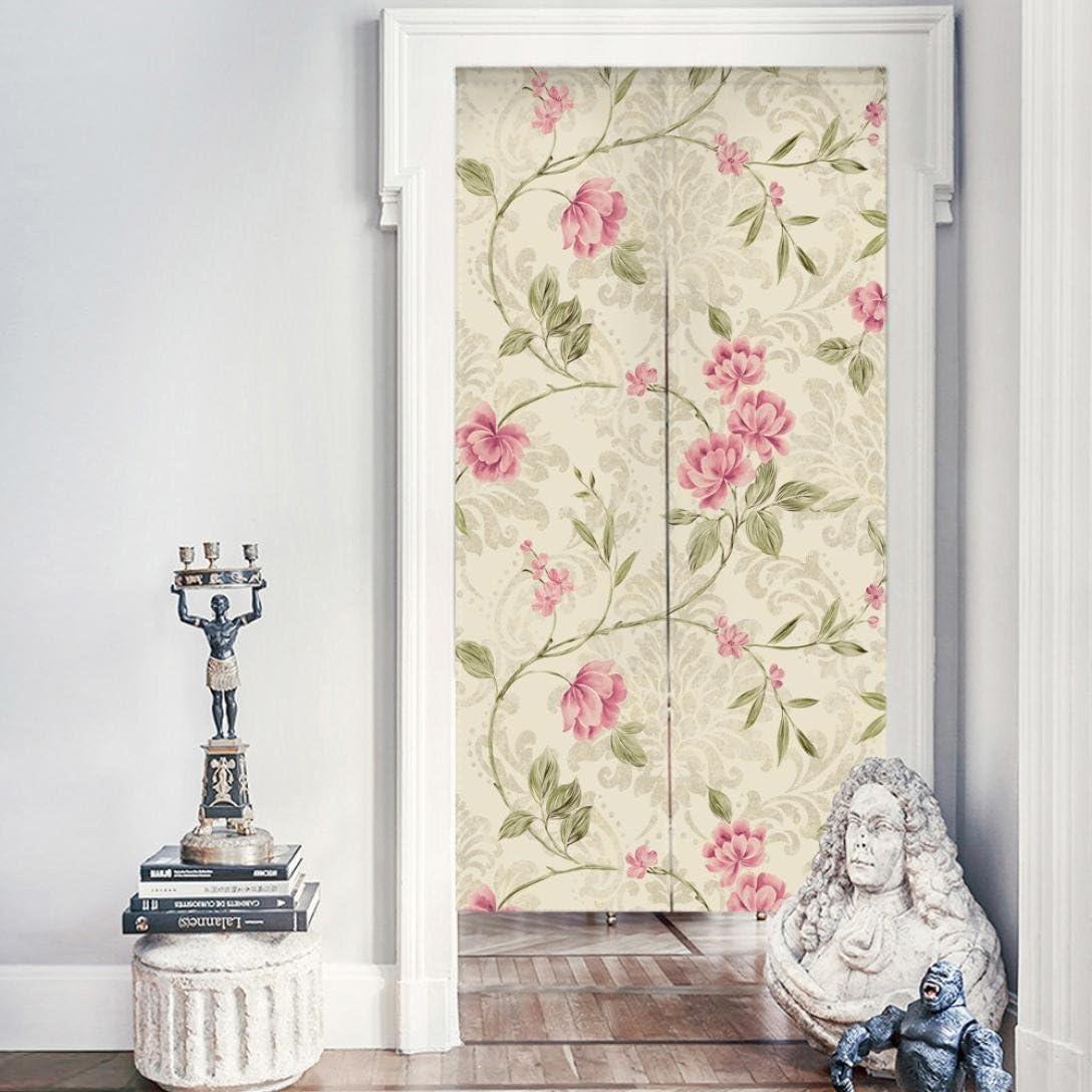 Para colgar cortina para puerta, Nordic estilo tapiz de flores de puerta Puerta Armario Ventana para colgar cortina: Amazon.es: Hogar