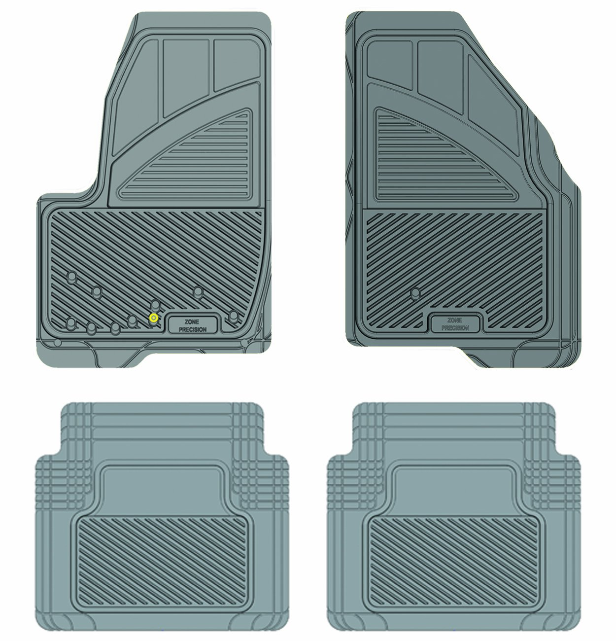 Grey Koolatron Pants Saver Custom Fit 4 Piece All Weather Car Mat for Select Ford Five Hundred Models