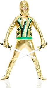 Charades Child Golden Ninja Series III Costumes, Gold, Medium