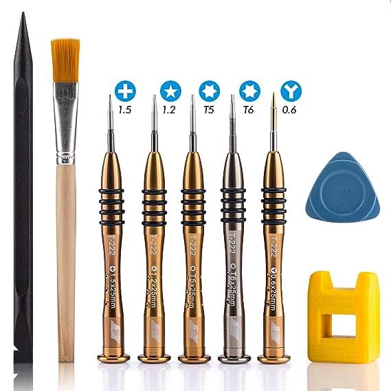 Professionnel MacBook Kit de Réparation, 9 en 1 Magnétique Tournevis à Précision pour MacBook/MacBook Air/MacBook Pro (Adapté à tous les Modèles d'affichage Retina et Macbook Anciens Modèles)