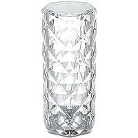 Zwbfu Abajur de mesa de diamante acrílico com controle de toque 3 cores de iluminação com brilho ajustável USB cabeceira…