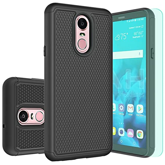 finest selection 2c38c 063c9 LG Stylo 4 Case,LG Q Stylus/Q Stylus Plus/Q Stylus Alpha Case with HD  Screen Protector Huness Durable Armor and Resilient Shock Absorption Case  Cover ...