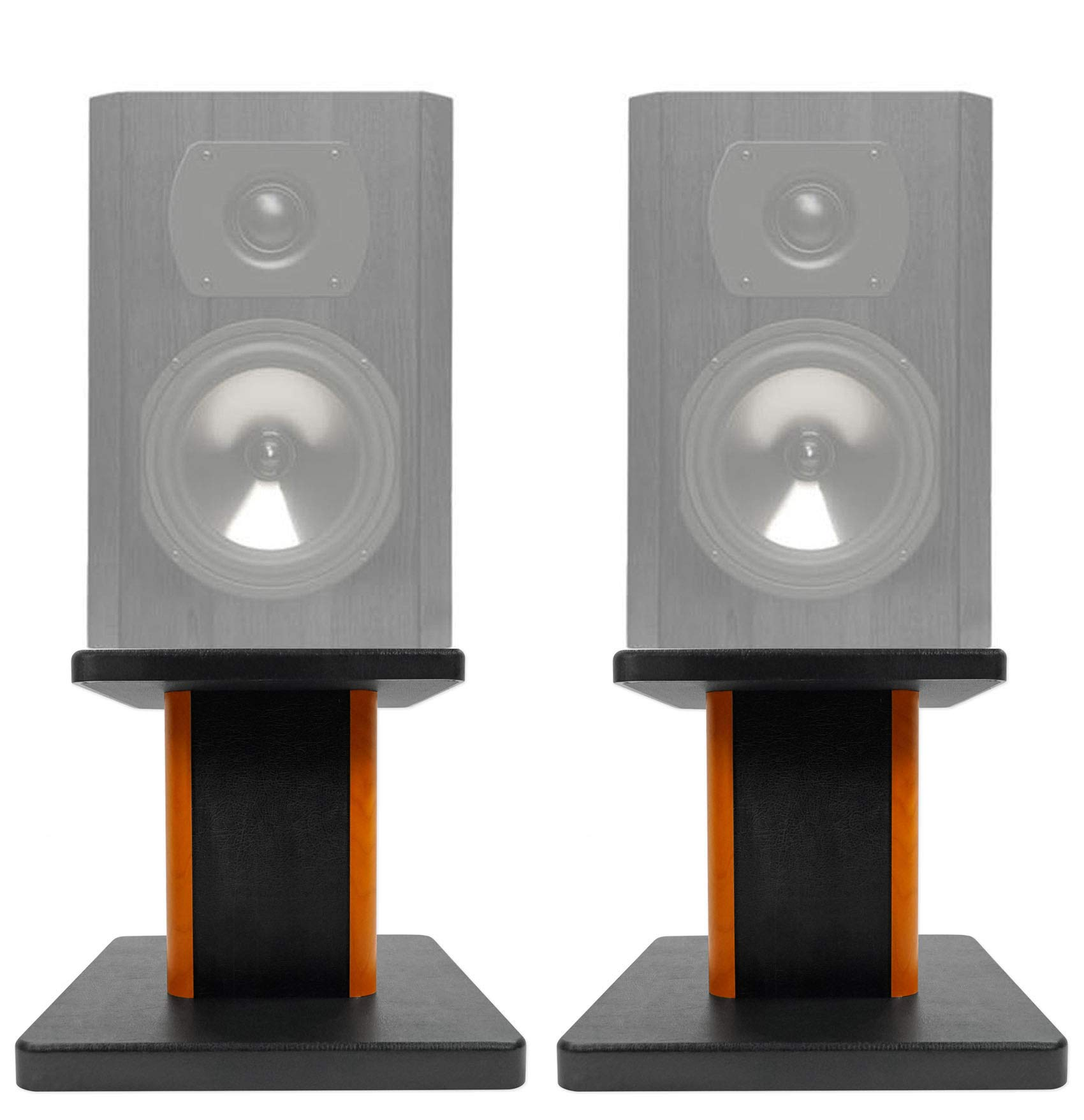 ROCKVILLE 2 8'' Wood Bookshelf Speaker Stands for Boston Acoustics CS23 Bookshelf Speakers