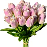Mandy's 20pcs Lavender Artificial Latex Tulips for Party Home Wedding Decoration