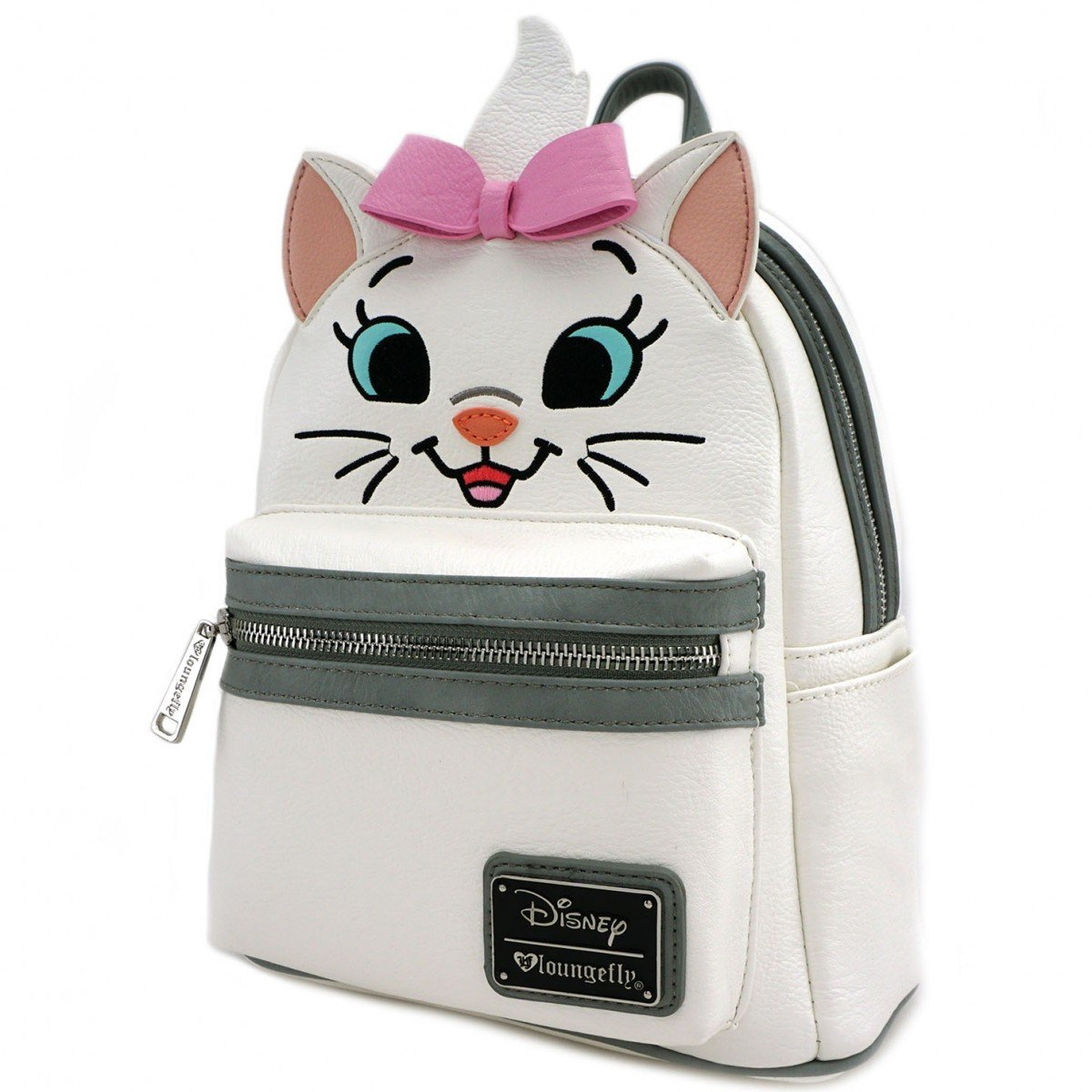 Loungefly Disney Marie Big Face Mini Faux Leather Backpack Wallet Set
