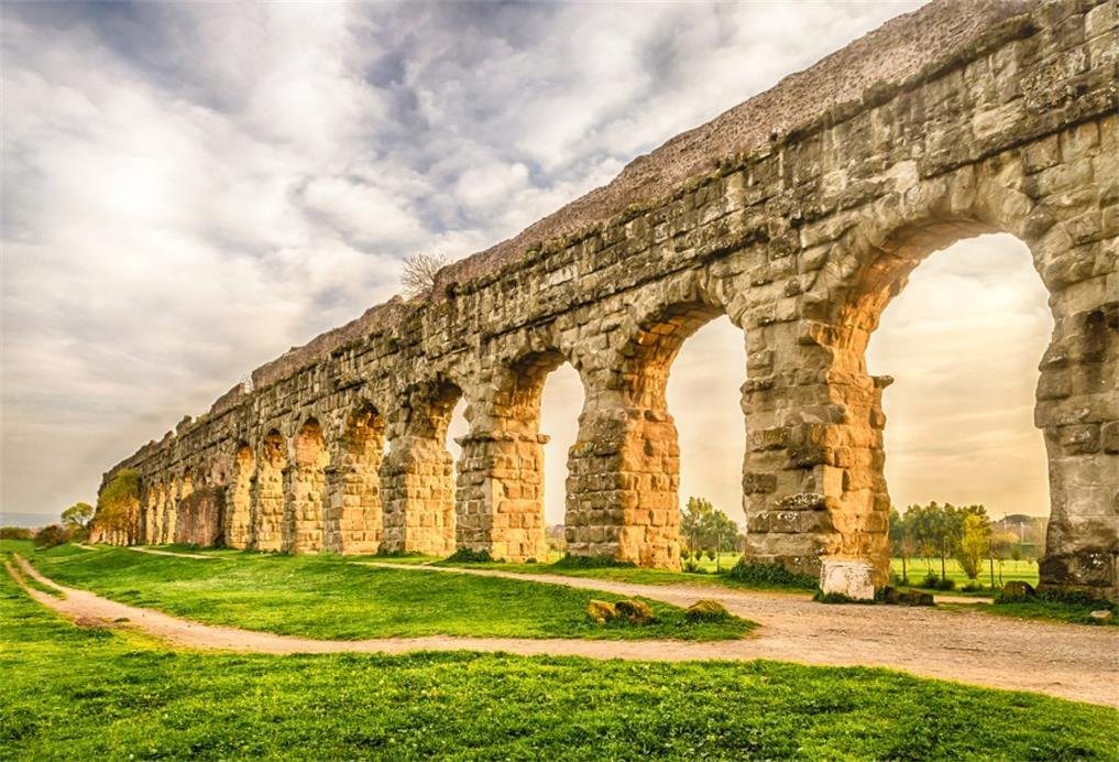 AOFOTO 8x6ft Aqueduct of Segovia Backdrop Ancient Roman Aqueduct Bridge Ruin Photography Background History Culture City Landmark Travel Wedding Photo ...