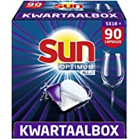 Sun Optimum All-in 1 Regular Capsules – 90 vaatwastabletten, voor een superieure reiniging en glans – Kwartaalbox