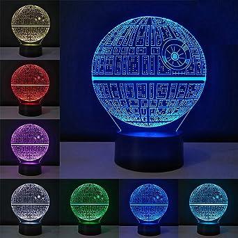 3D Optische Illusions Lampe, Star Wars 7 Farben Touch-Schalter ...