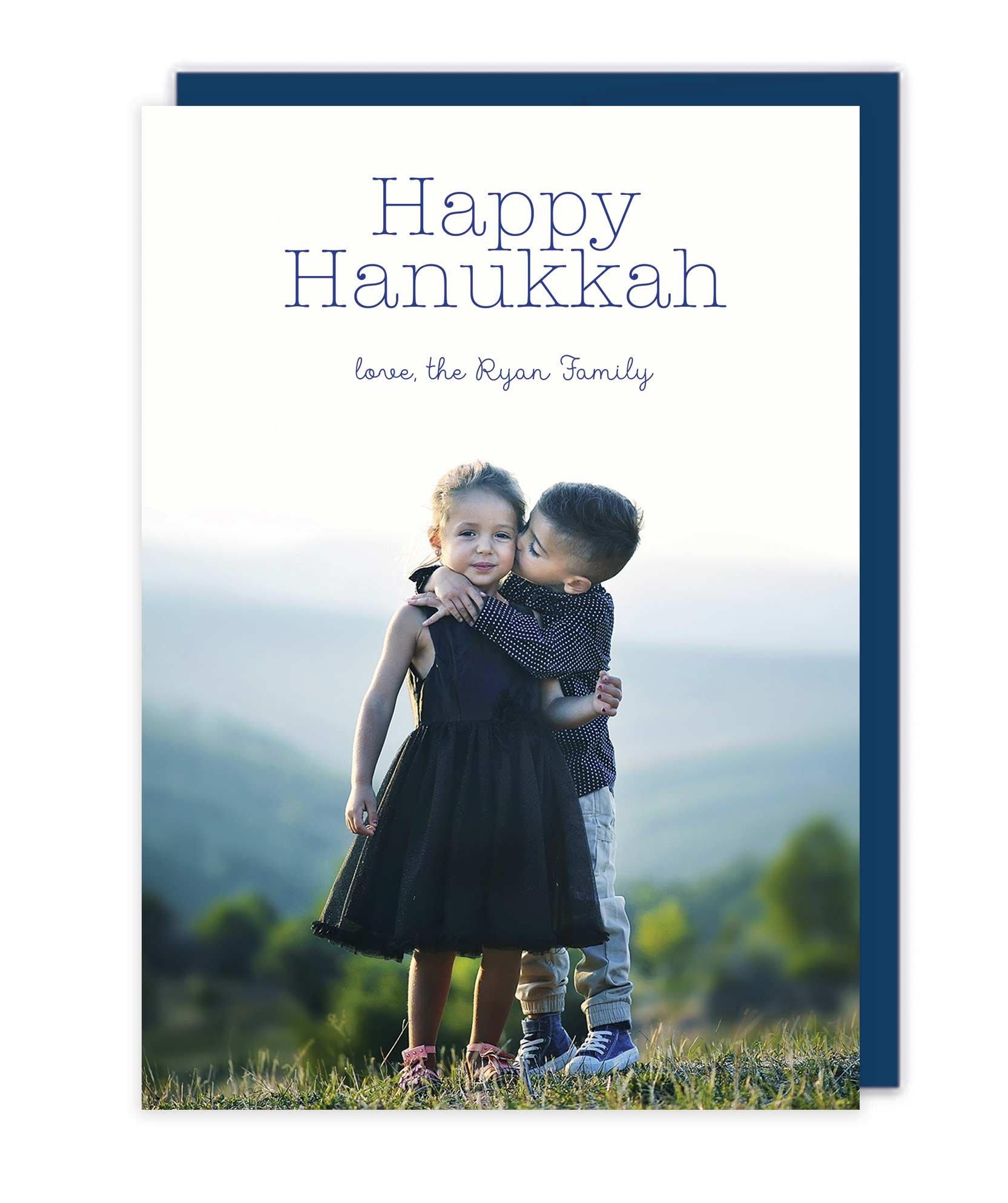 Photo Letterpress Christmas Cards - Happy Hanukkah