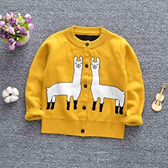 Lifestyler Girls Kids Rainbow Stripes Sweaters Soft Warm Childrens Sweater Coats Fashion Cute Button Outwear