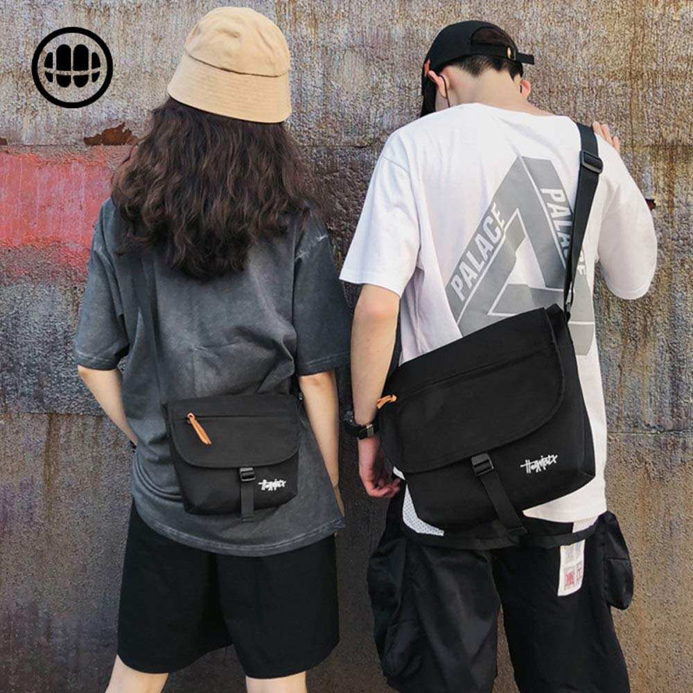 OATL Nylon Cloth Material Men and Women Shoulder Bag Simple Wild Tide Brand Messenger Bag Men and Women Retro Fan Car Messenger Bag Small Bag Four Color Eight Models Optional