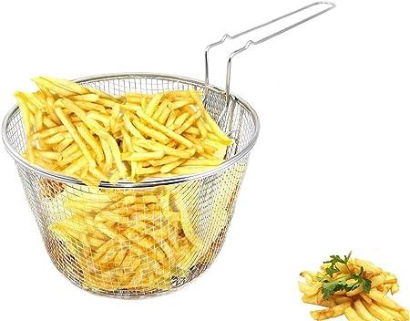 Chips Bronze L Rechteck Frittierkorb Garnelen Eisen Frittierk/örbchen mit Griff zum Servieren von Pommes Frites