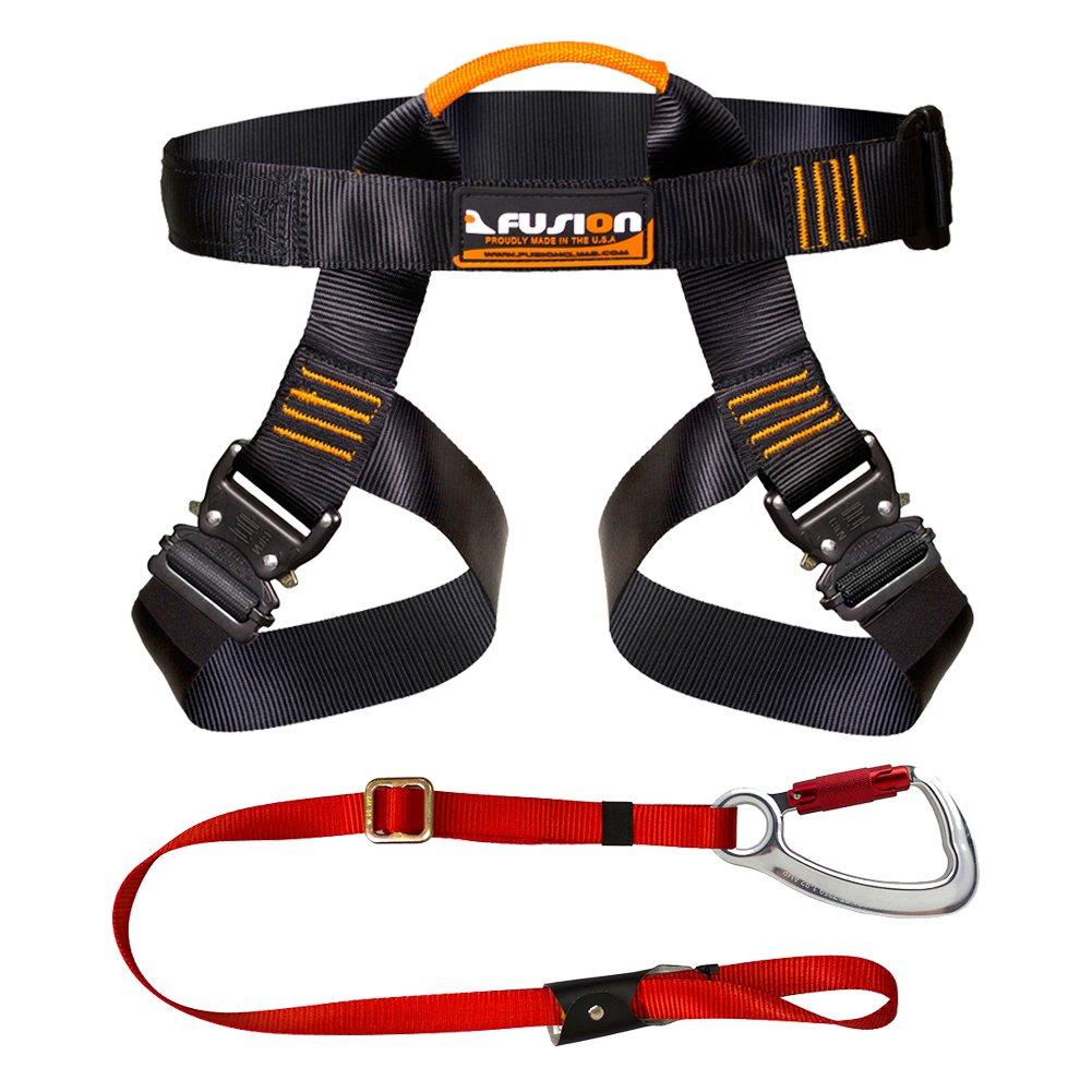 Fusion Climb Pro Backyard Zip Line Kit Harness Lanyard Bundle FK-A-HL-02