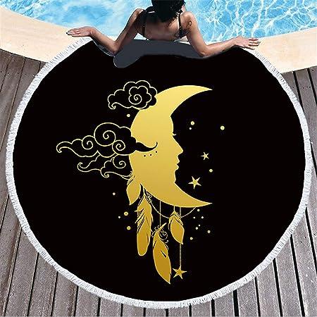 BABIFIS Golden Sun Series Microfiber Toalla de Playa Círculo ...