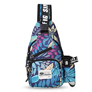 dc1f329dd175 Amazon.com  FANDARE Chest Bag Sling Bag Men Women One Shoulder Strap  Crossbody Bag Sport Gym Bag Waterproof Polyester Blue  FANDARE-COM