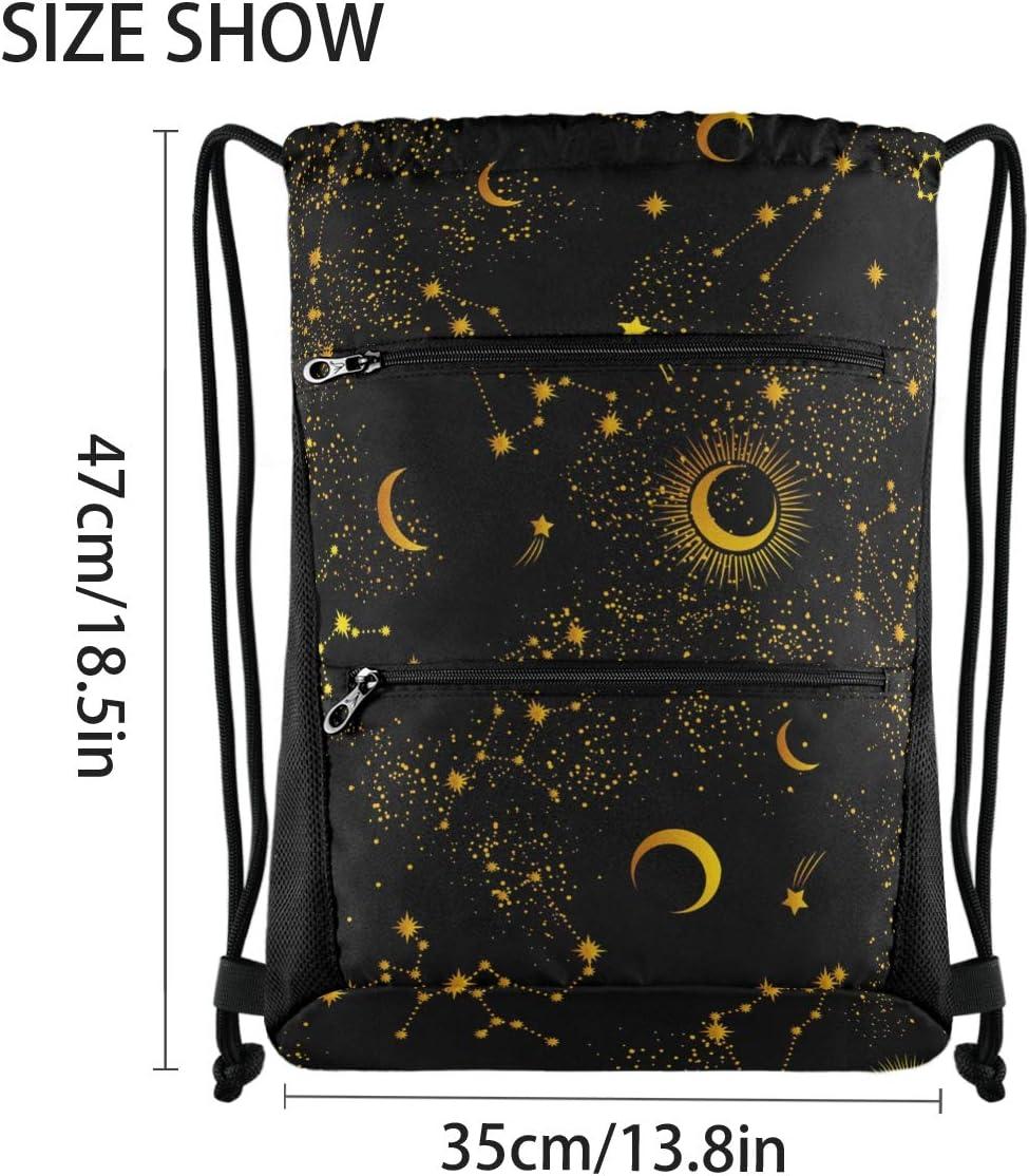 2 Draw String Sport Yoga Gym Bag Drawstring Bag Cute Space Galaxy Constellation 0326010 Drawstring Backpack for Women