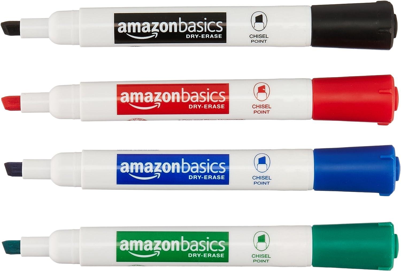 AmazonBasics Dry Erase White Board Markers