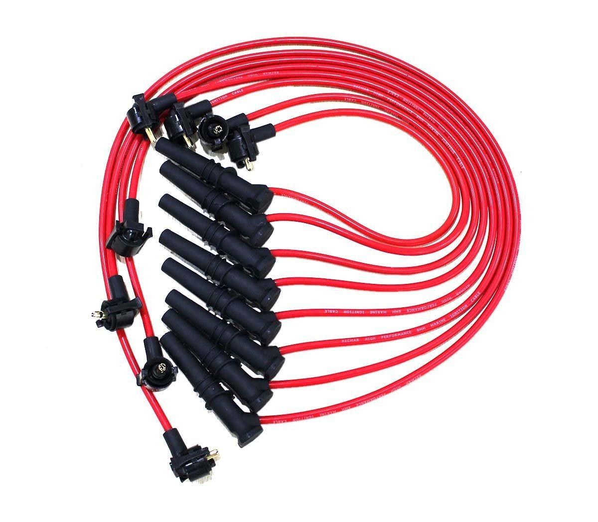 8 Pcs Spark Plug Wire Set For Ford Lincoln Mercury F-150 F250 V8 4.6L JEM&JULES
