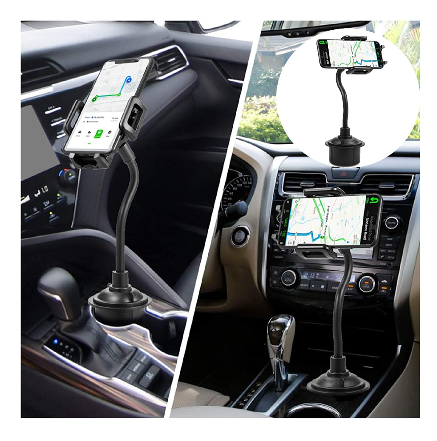 Samsung and GPS Car Mount Holder Cradle Adjustable Long Arm Cell Phone Holder with 360/° Rotatable Cradle for Most Smartphones Such as iPhone