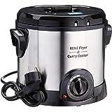 KENT Fryer and Curry Cooker 1500-Watt (Steel Grey)