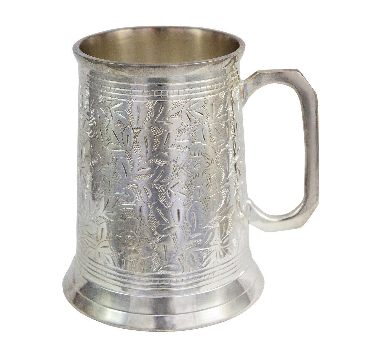 Alchemade Antique Beer Stein, 20 oz, Silver 2520