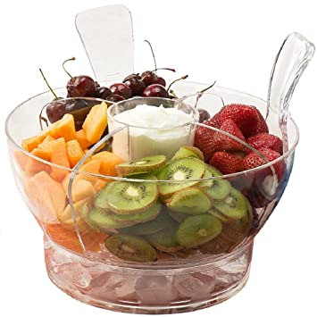 Fabulous Amazon.com | Perlli Salad Bowl Set On Ice - Chilled Serving Bowls  SH24