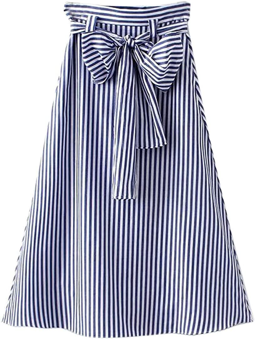 Vintage Skirts | Retro, Pencil, Swing, Boho Choies Womens Casual Pleat Bowknot Front Midi Skirt $22.99 AT vintagedancer.com