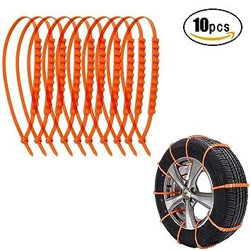 kyerivs antideslizante coche cable neumático antideslizante emergencia tracción barro - Cadenas de nieve para todoterreno coche Van Flexible Nylon neumático ...