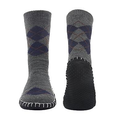 e229ae018fff6e Vihir ルームソックス メンズ靴下 室内履き ルームシューズ 滑り止め加工 自宅仕事用 ニット