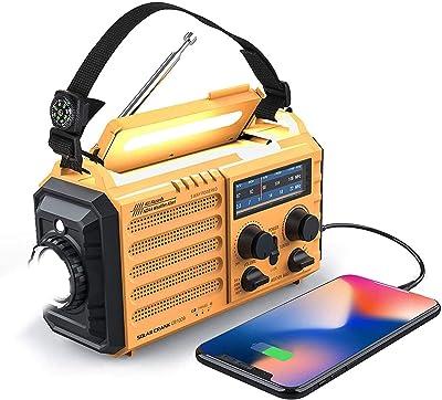 Weather Radio Raynic Solar Hand Crank Emergency Radio