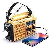 Weather Radio Raynic 5000mAh Solar Hand Crank Emergency Radio 5 Ways Powered AM/FM/SW/NOAA Weather Alert Portable Radio with
