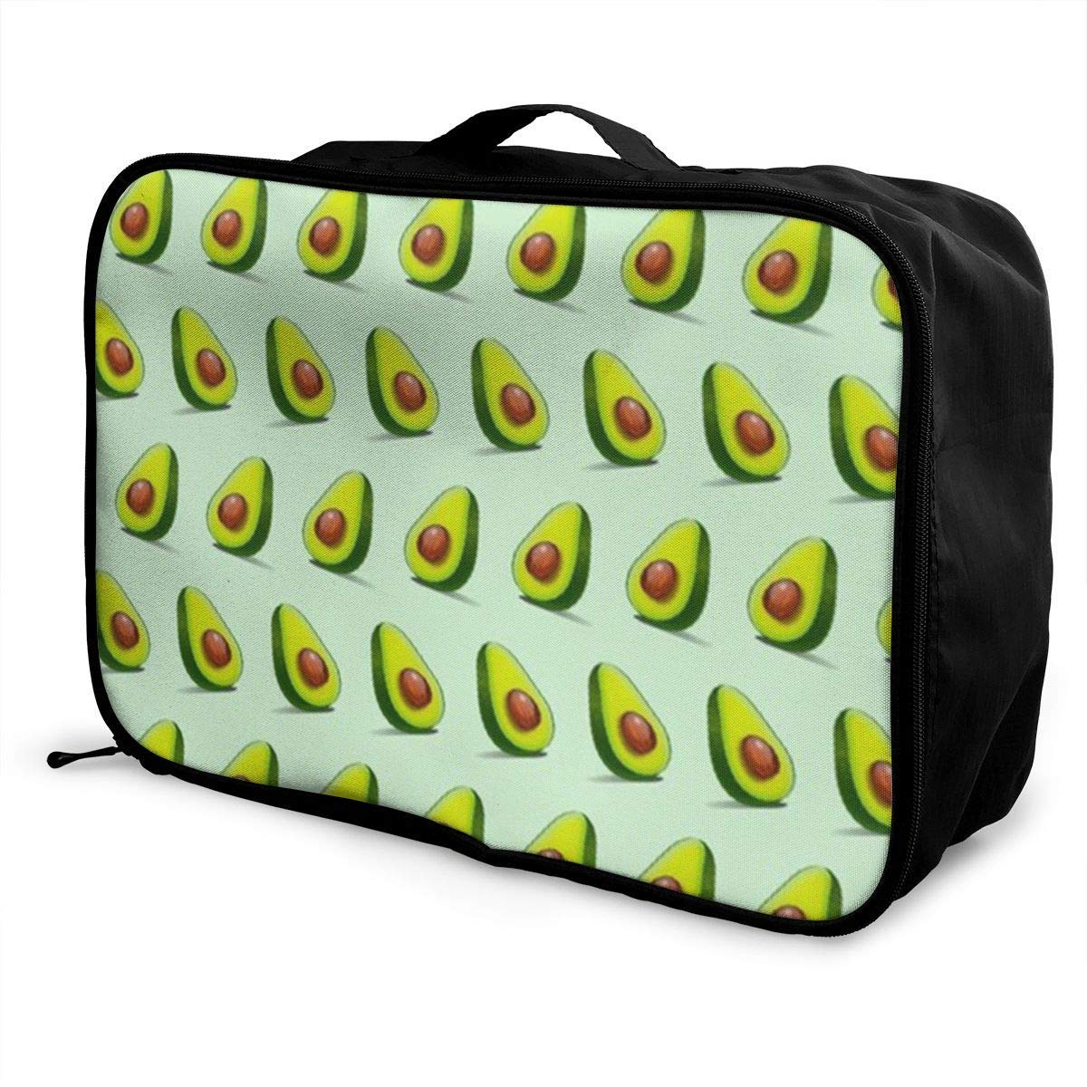 Portable Luggage Duffel Bag Avocado Pattern Travel Bags Carry-on In Trolley Handle