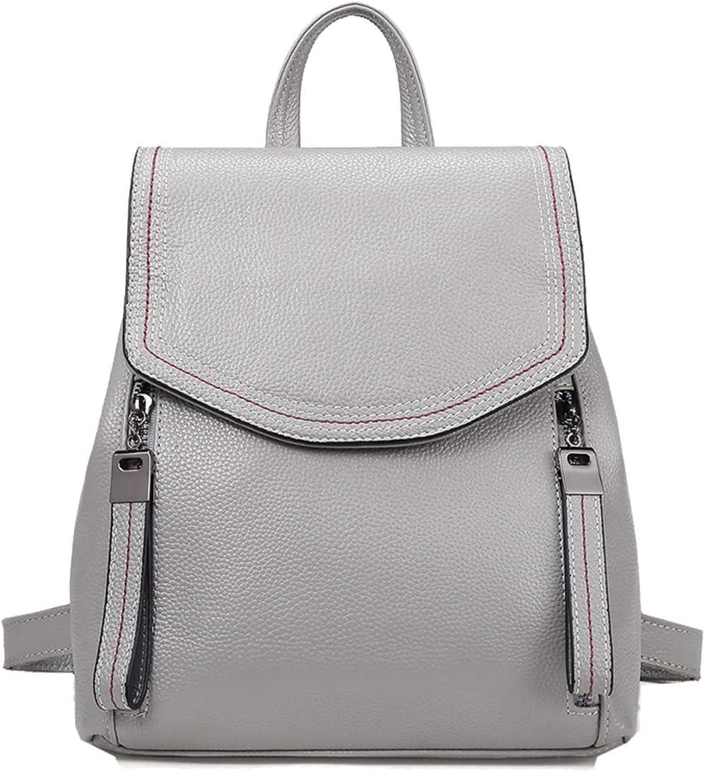 Heshe Womens Leather Backpack Casual Daypack