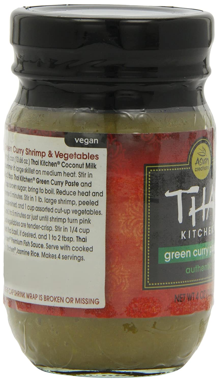 Amazon Com Thai Kitchen Green Curry Paste 4 Ounce Pack Of 6 Curry Sauces Grocery Gourmet Food
