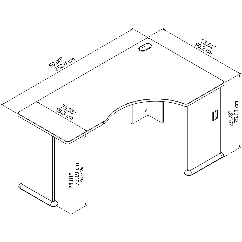 Amazon.com: Bush Business muebles Series un computadora de ...