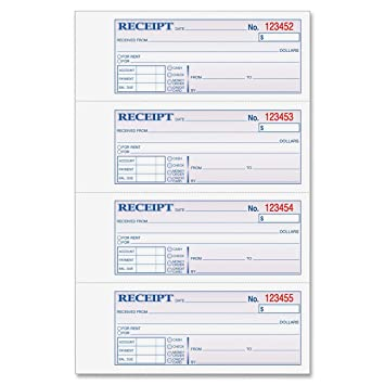 Amazon.com : Adams Money and Rent Receipt Book, 3-Part, Carbonless ...