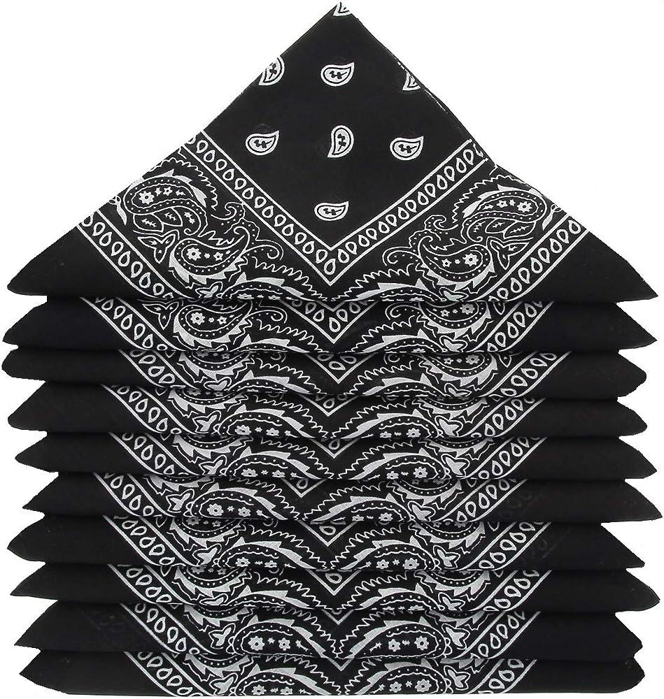 KARL LOVEN – Lote de pañuelos 100% algodón Paisley pañuelos fichu ...