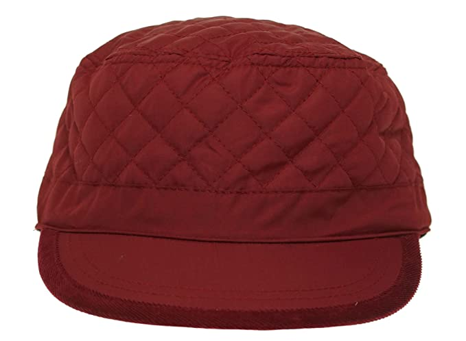 0bf5703ca August Women's Quirky Quilt Military Cap, Burgundy