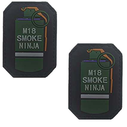 Amazon.com: M18 Smoke Ninja 3D PVC Tactical Morale Badge ...