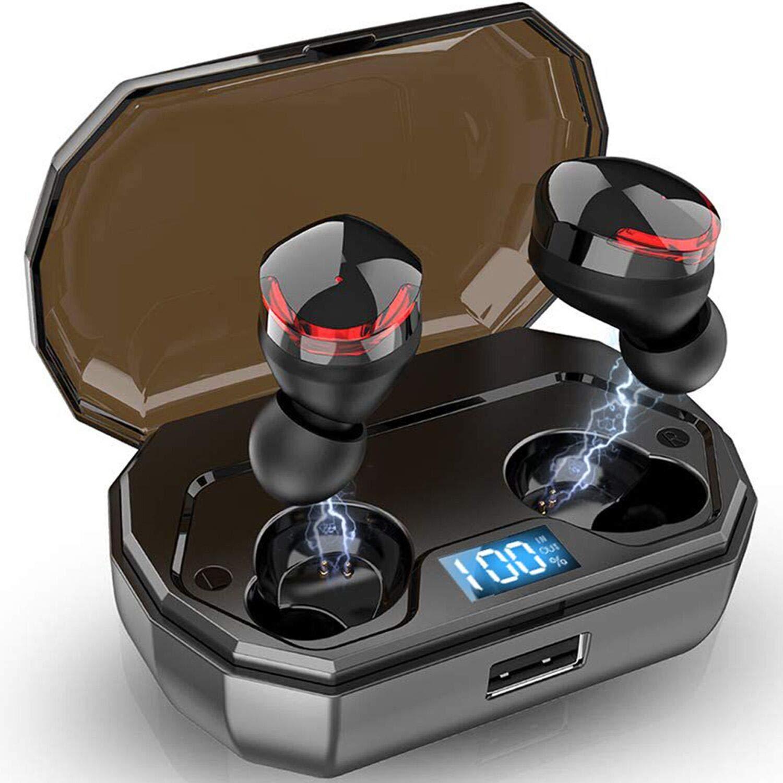 Ailis R10 TWS Bluetooth 5.0 イヤホン 【真のワイヤレスステレオ】 ヘッドホン IPX5 防水 インイヤーワイヤレス充電ケース 内蔵マイクヘッドセット プレミアムサウンド 重低音 ランニング スポーツ用   B07SJ48X2J
